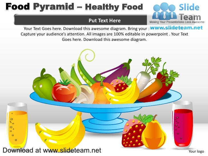 nutrition food pyramid powerpoint template