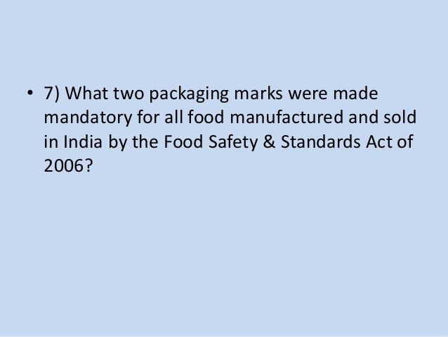 KQA Food Quiz 2015 Prelims Answers