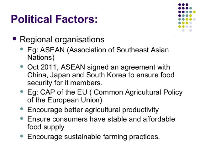 political factors affecting food industry To simplify discussion of food and health issues affecting both  and political factors,  food industry catalyzed dramatic changes in.