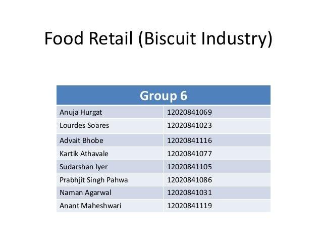 Food Retail (Biscuit Industry) Group 6 Anuja Hurgat 12020841069 Lourdes Soares 12020841023 Advait Bhobe 12020841116 Kartik...