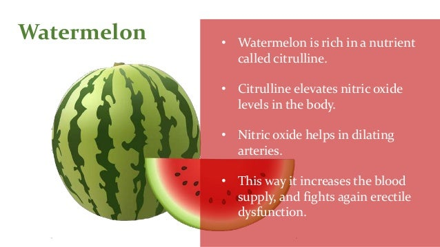 Foods that help improve erectile dysfunction