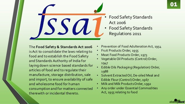 fssai food safety and standards authority of india by akshay anand 2 638