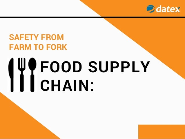 FOOD SUPPLY CHAIN: SAFETY FROM FARM TO FORK