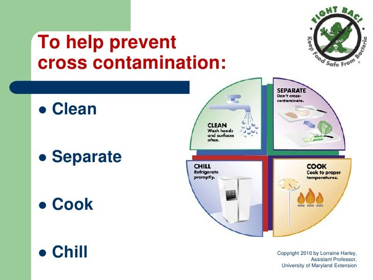 cross contamination occurs when