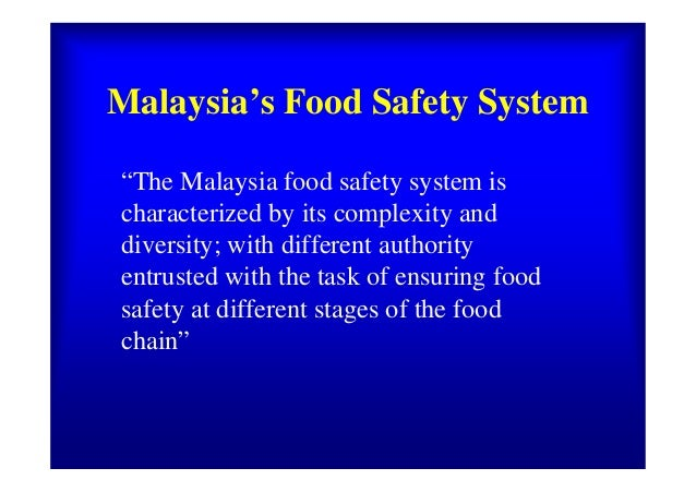 Ministry Of Health Malaysia Food Safety And Quality Division