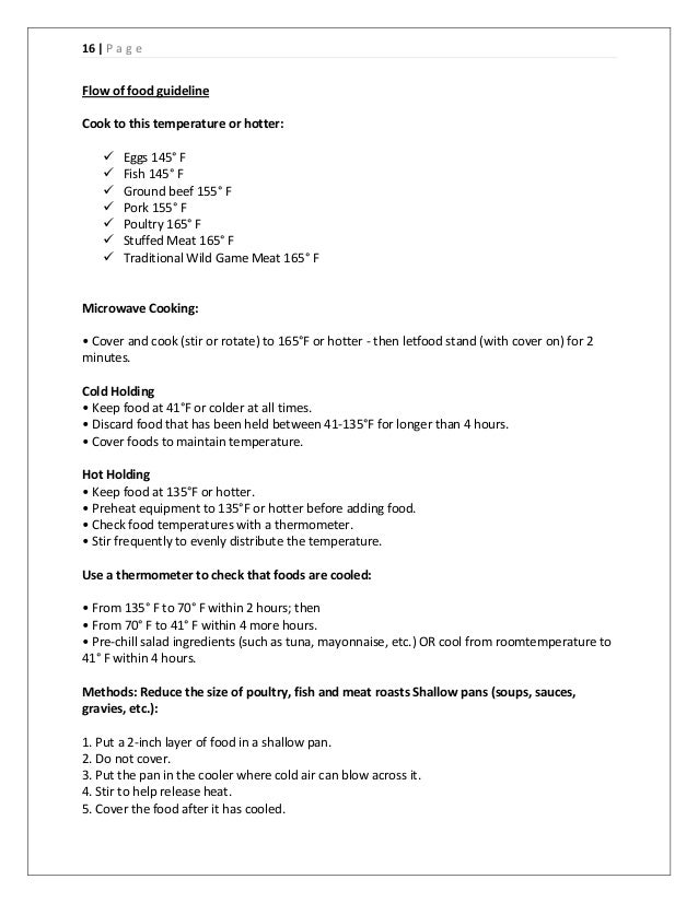 15 p a g e kitchen area 16 - Fast Food Worker Resume