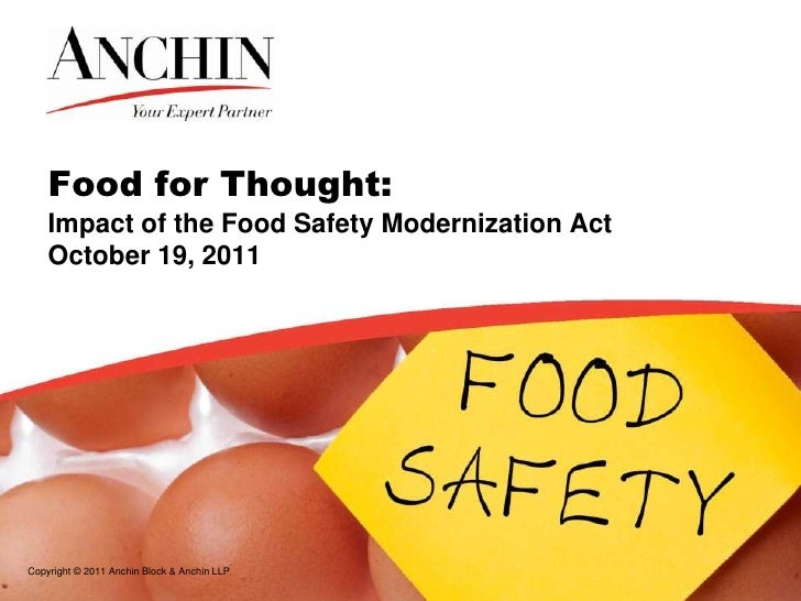 analysis of the food safety modernization The food safety modernization act (fsma) was signed into law in 2011  in the  hazard analysis critical control point (haccp) food safety.