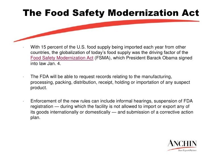 nutrition and food safety act The nation's leading consumer and food safety organizations are urging 11 of the country's biggest food manufacturers, retailers, and restaurant chains to oppose the regulatory accountability act, which the groups say would effectively block any new regulations improving food safety.