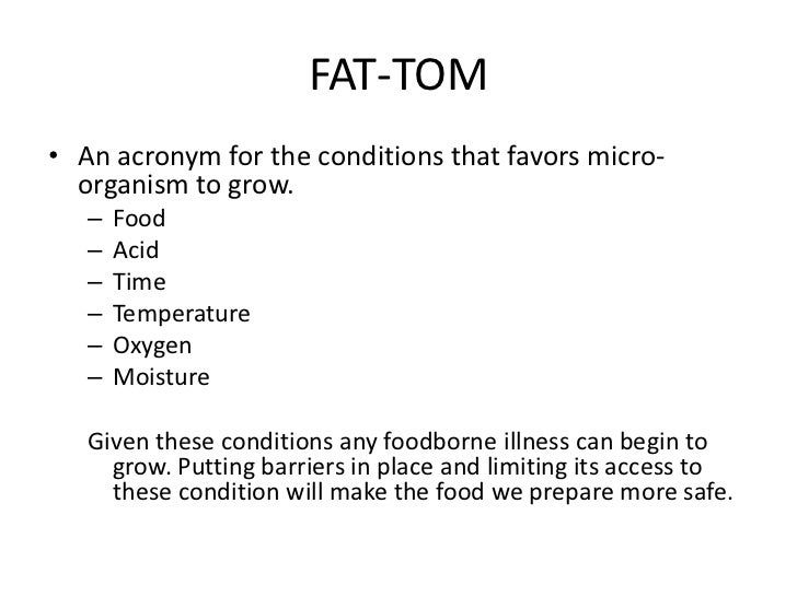 Fat Is The Acronym For What Term