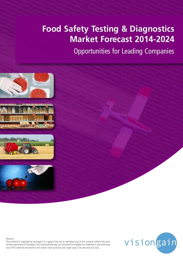 Food Safety Testing & Diagnostics Market Forecast 2014-2024 Opportunities for Leading Companies ©notice This material is c...