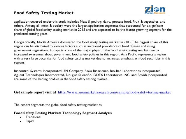 Food Safety Testing Market By Contaminant
