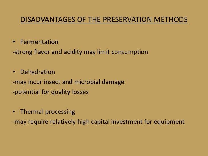 disadvantages of fermented foods pdf