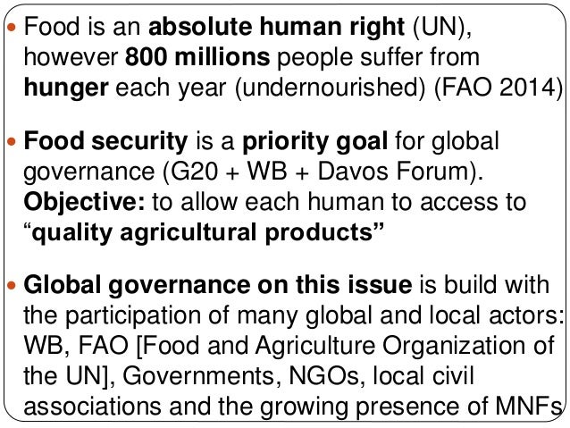 Food Security and Developing Countries Slide 2