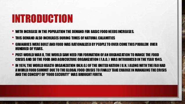 Food security Slide 3