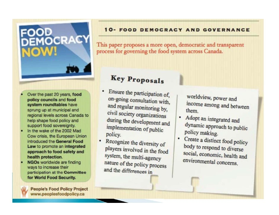 Food sovereignty and right to food  Slide 3