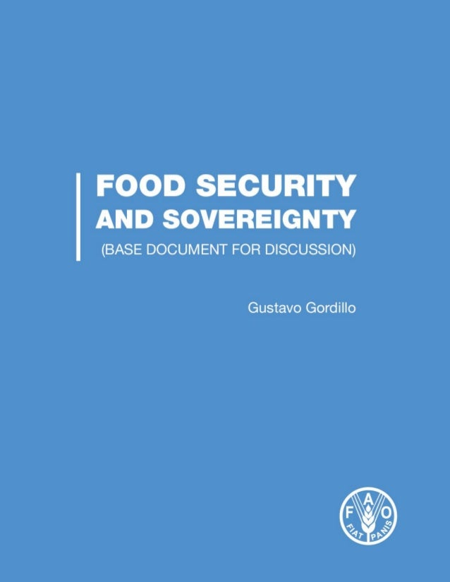 Food security anda food sovereignty 27. 11. 13 Slide 1