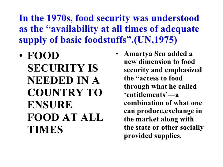 food security essays In other words, food security means healthy food for all, and that's what we strive  for through our many projects, resources, and work with communities and.
