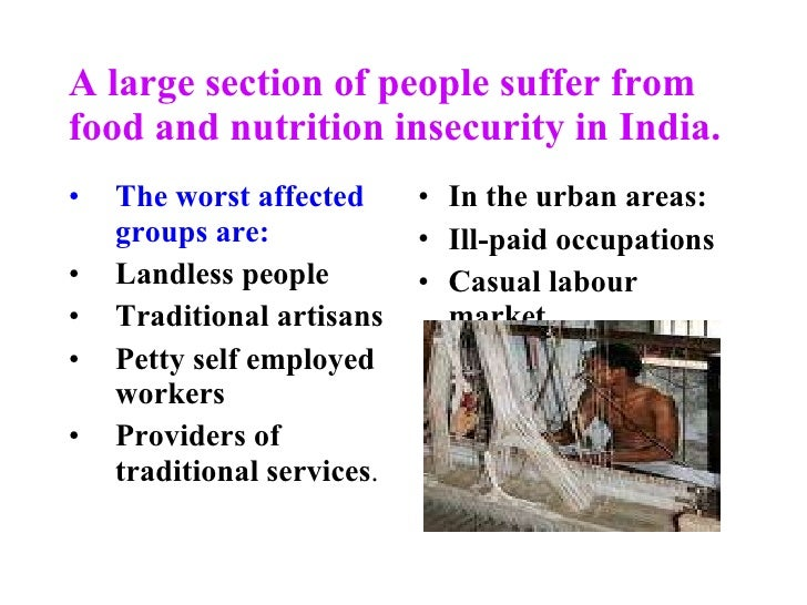 food security in india project