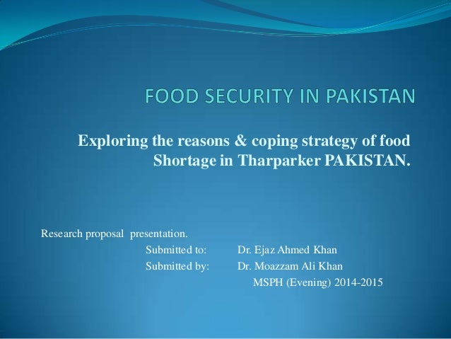 Research paper on food security in pakistan