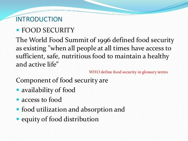 What Is The Best Definition Of Food Insecurity