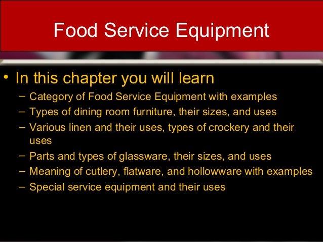 FOOD SERVICE EQUIPMENTS Presentation By Edgar Dsouza 2