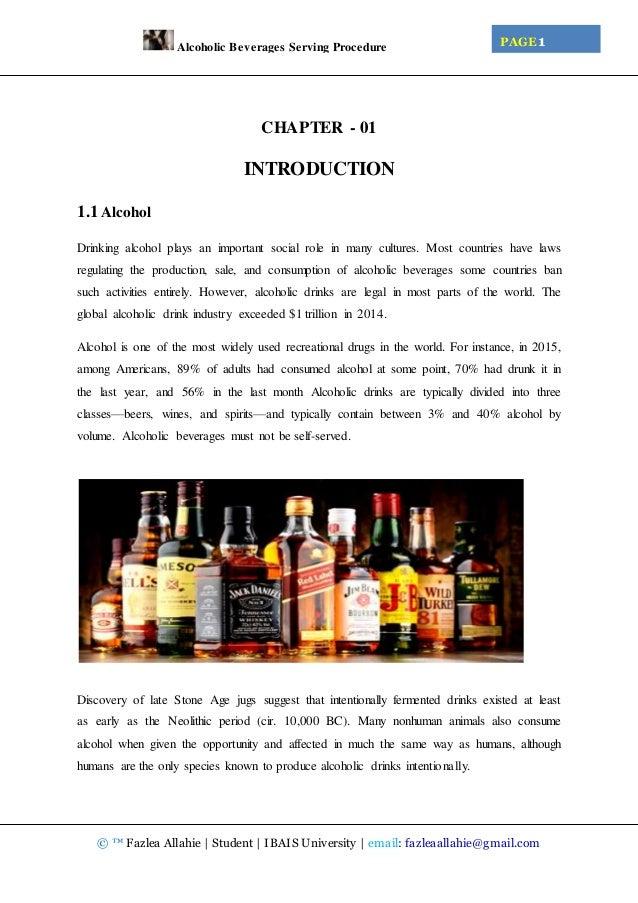 Alcoholic Beverage Serving Procedure