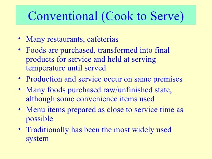 Convenience Food Service System