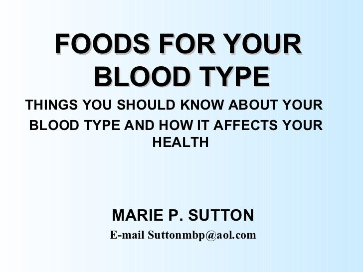Foods for your blood type for Haute you should know