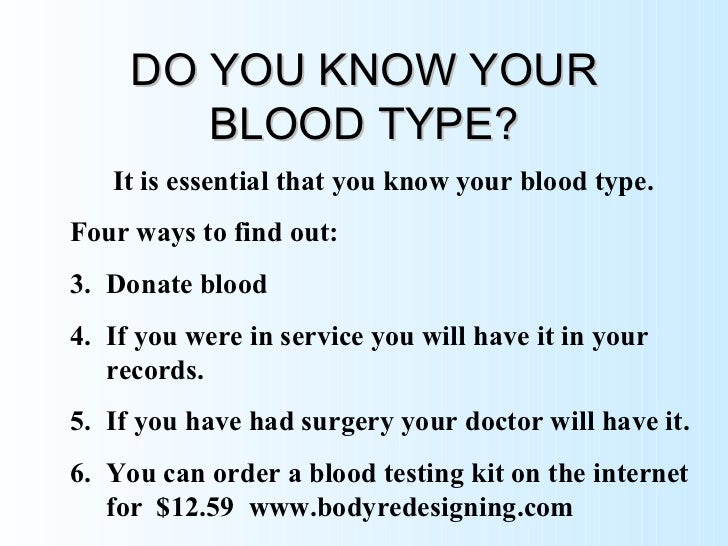 Foods For Your Blood Type