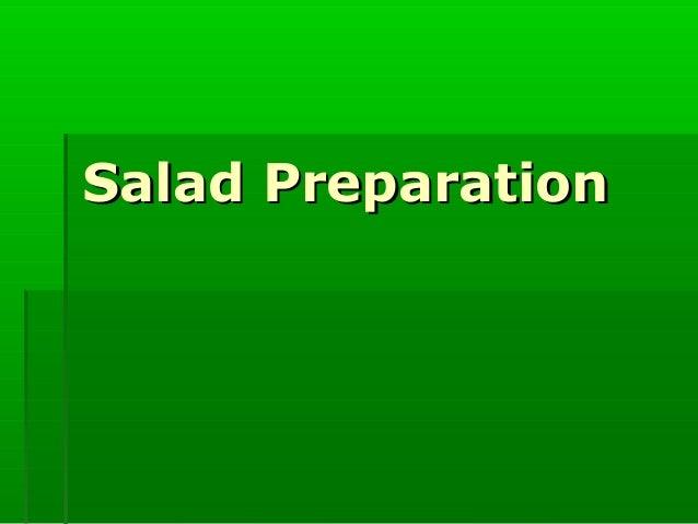 Salad Preparation