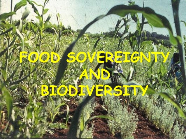 FOOD SOVEREIGNTY AND BIODIVERSITY