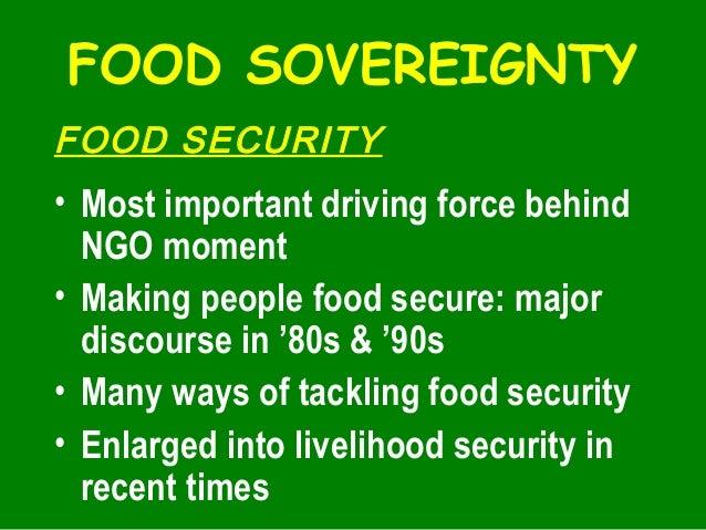 Food sovereignty, biodiversity, july 27, 2005 Slide 2