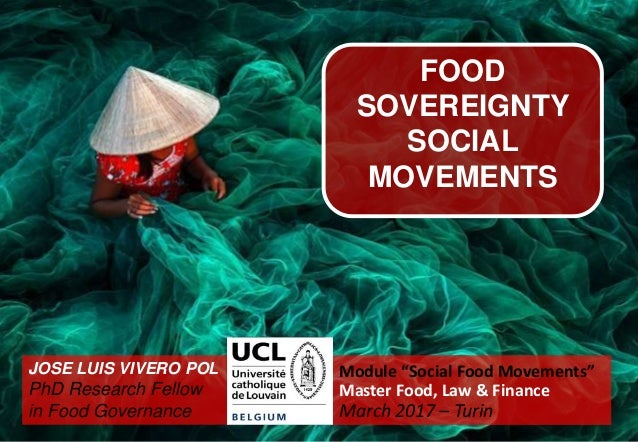 Datos de hambre Food as a Commodity, Human Right or Common Good? Implications for Hunger Eradication JOSE LUIS VIVERO POL ...