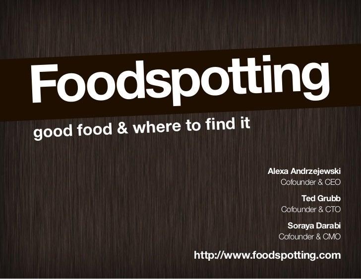 good food & where to find it                                    Alexa Andrzejewski                                        ...