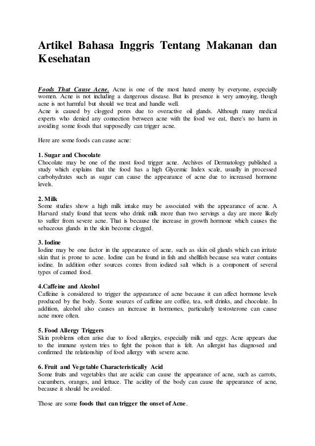 Artikel pola hidup sehat dalam bahasa inggris