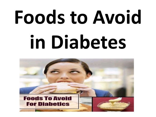 foods to avoid with diabetes pdf