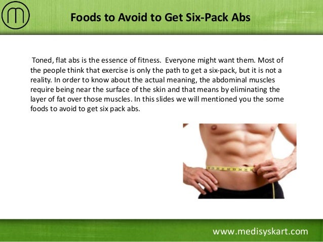 Foods To Avoid To Get Six Pack Abs