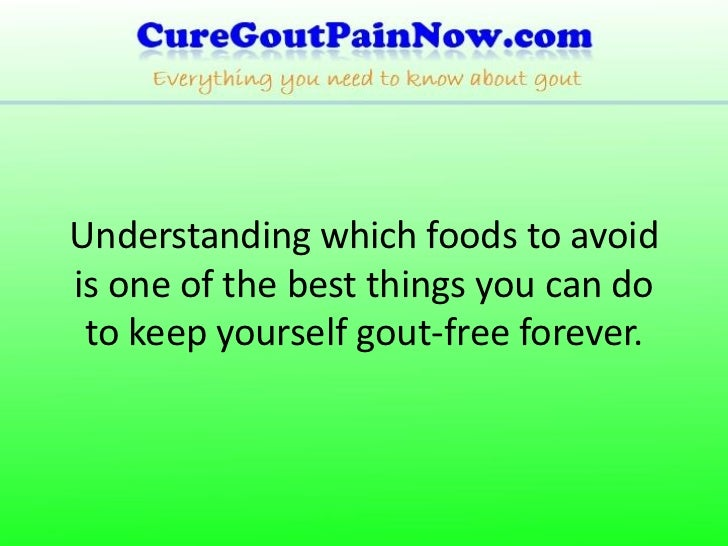 foods to avoid with gout pdf