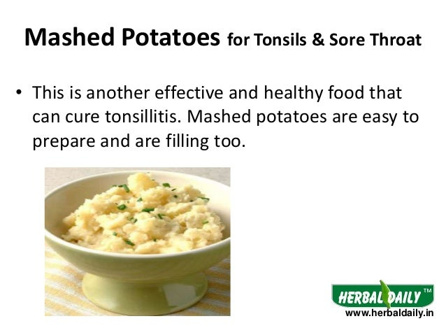 5 Mashed Potatoes For Tonsils