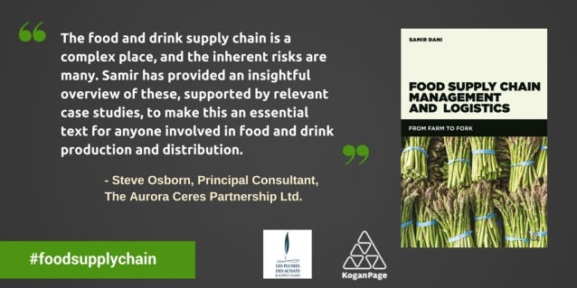 66 The food and drink supply chain is a complex place,  and the inherent risks are many.  Samir has provided an insightful...