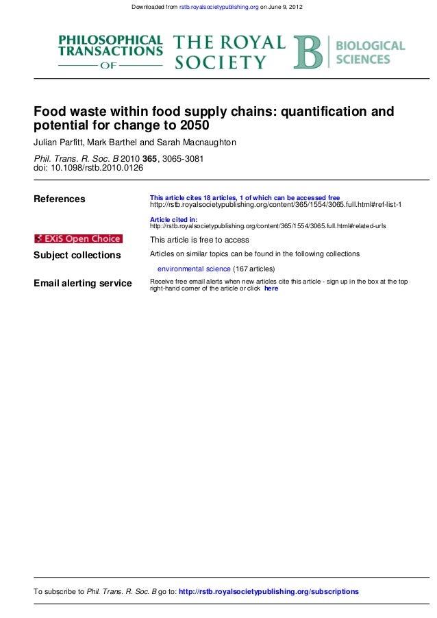 food supply chain waste