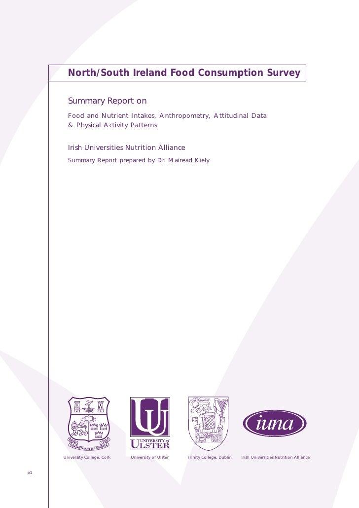 NS - Food Survey Summary 2001