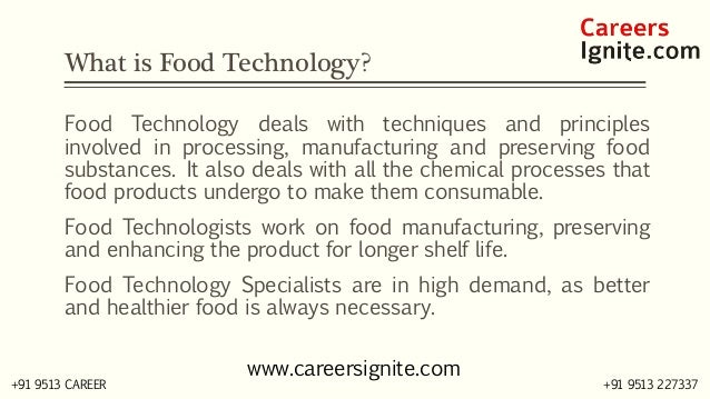 Food Technology Courses, Colleges, Eligibility Slide 2