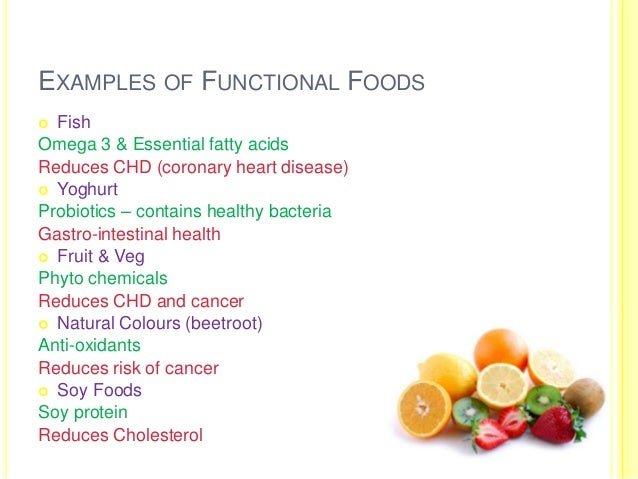 Examples Of Natural Functional Foods
