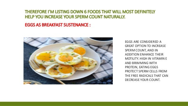 Food that increase low sperm count converted