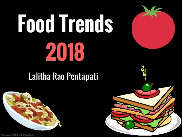 Food Trends 2018 Lalitha Rao Pentapati Sources: Greatist, BBCGoodFood