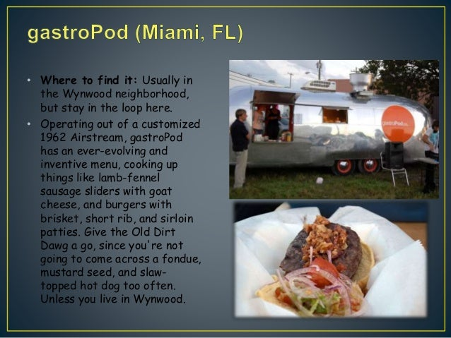 Gastropod Food Truck Menu