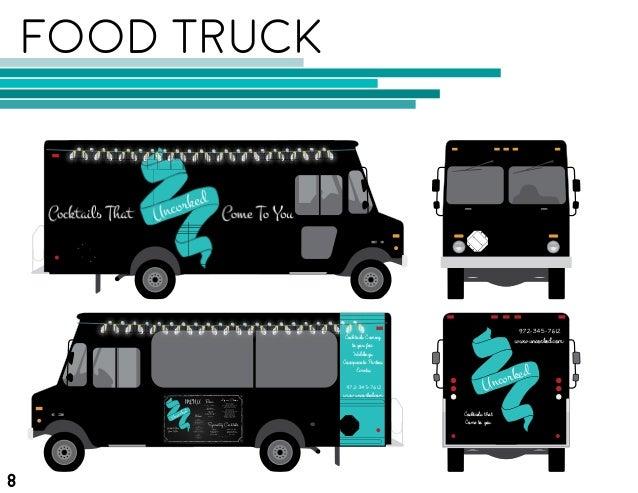 Food truck branding book for Food truck design app
