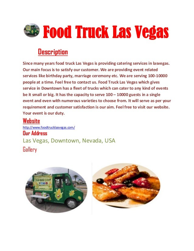 Food trucks las vegas pdf files food truck las vegas description since many years food truck las vegas is providing catering services forumfinder