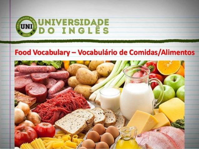 Food Vocabulary – Vocabulário de Comidas/Alimentos